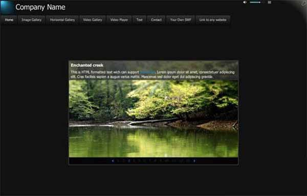Flash template Flashden Smart XML Website