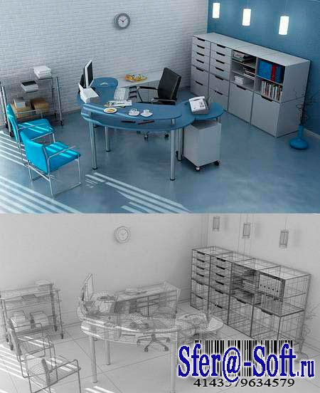 Office Interior – 3DMax Model