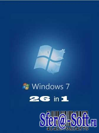 Windows 7 x86 & x64 - 26in1- by $L!DER (Rus/Eng/2010)