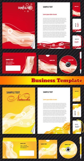 Business Template 4 - vector