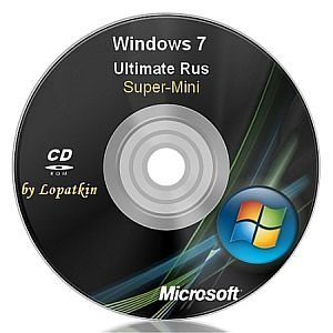 Windows 7 Ultimate 7600 x86 ru-RU Super-Mini на CD